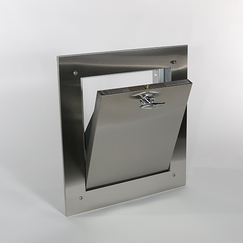 replacement Bottom Hinged trash chute door sold by trashchuteparts.com