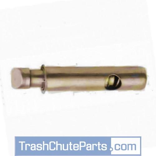 Trash chute latch bolt